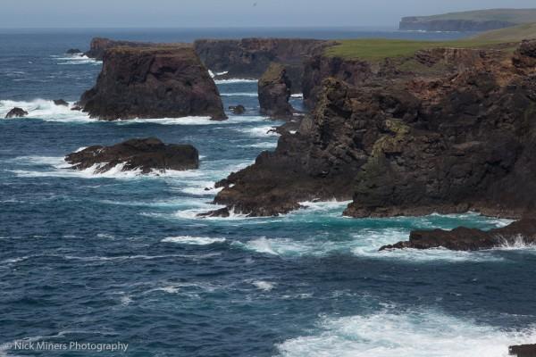 Sea cliffs at Eshaness