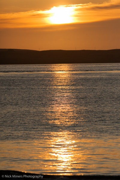 Sunset over Sandness