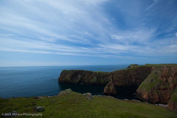 Cliffs and sea stacks at Westerwick