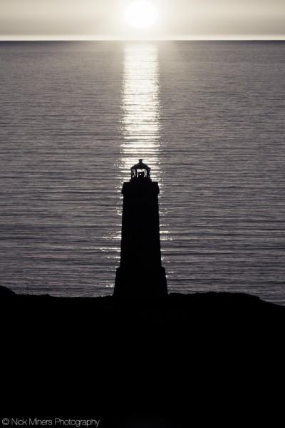 A lighthouse at sunset, Patreksfjörður