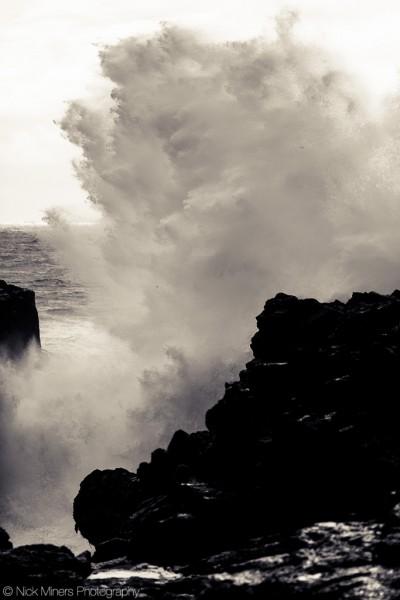 Wave breaking at Öndverðarnes